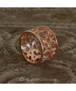 RING Genuine 18K Rose Gold over Sterling SILVER 5.60g US size 7 ~ Handmade - $38.76