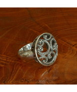 RING Genuine Solid Sterling SILVER Ring 8.20g US size 6 ~ Handmade in Bali - $42.68