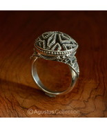 RING Genuine Solid Sterling SILVER Ring 7.18 g US size 6 ~ Handmade in Bali - $38.76
