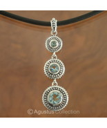 Pendant Genuine Sky Blue Topaz & Sterling SILVE... - $42.68