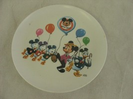Vintage Disney Mickey Mouse Club Melamine Child's Plate Donald Duck Walt... - $10.88