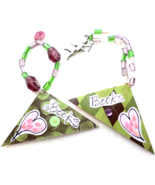 Corner Bookmarks, Triangle Page Keepers, Abstract Hearts Cupid Charm Pag... - $8.75