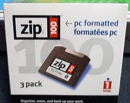 IOMEGA ZIP 100 (100MB) ZIP DISCS--PC FORMATTED-... - $8.99