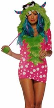 Womens Leg Avenue Melody Monster XS Sexy Halloween Costume Cosplay Dress... - $24.99