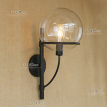 Vintage Sphere Clear Glass Sconce Edison E27 Light Wall Lamp Lighting Fixture - $76.25
