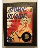 Trinitite Display, Genuine Atom Bomb Glass in Retro-Art Display - $39.00