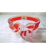 Mikasa Ruby Ribbon Crystal Tealight Holder - $8.00