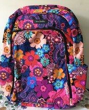 VERA BRADLEY LAPTOP BACKPACK SCHOOL BOOK BAG FLOWERS $118 in FLORAL FIESTA - $72.99