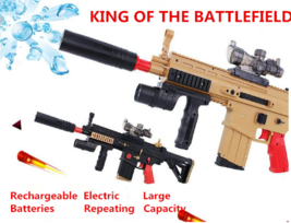 BLACK SCAR Assault Rifle AR Soft Repeater Dart Electric Water Bullet Toy... - $64.89