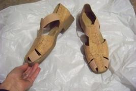 womens aerosoles 4 give cork upper strappy shoe... - $22.76