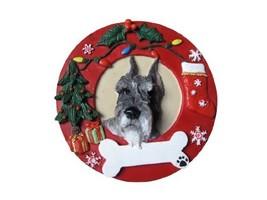 E&S Pets Schnauzer Cropped Personalized Christmas Ornament - $14.95
