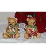 Homco Christmas Bears Pair 5251 Home Interiors - $9.99