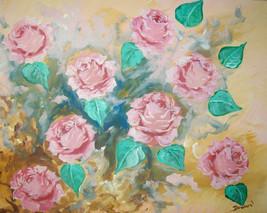 ORIGINAL ACEO Roses #2 Floral Art Print -: rdow... - $5.94