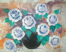 ORIGINAL ACEO Roses Floral Art Print -: rdoward fine art - $5.94