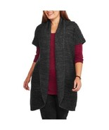 NEW CONCEPTS WOMENS PLUS SIZE 4X GRAY SHAWL COLLAR OPEN FRONT CARDIGAN S... - $23.21