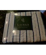 RALPH LAUREN Stripe Striped Premium FULL FITTED SHEET NEW Porcelain Blue... - $74.95