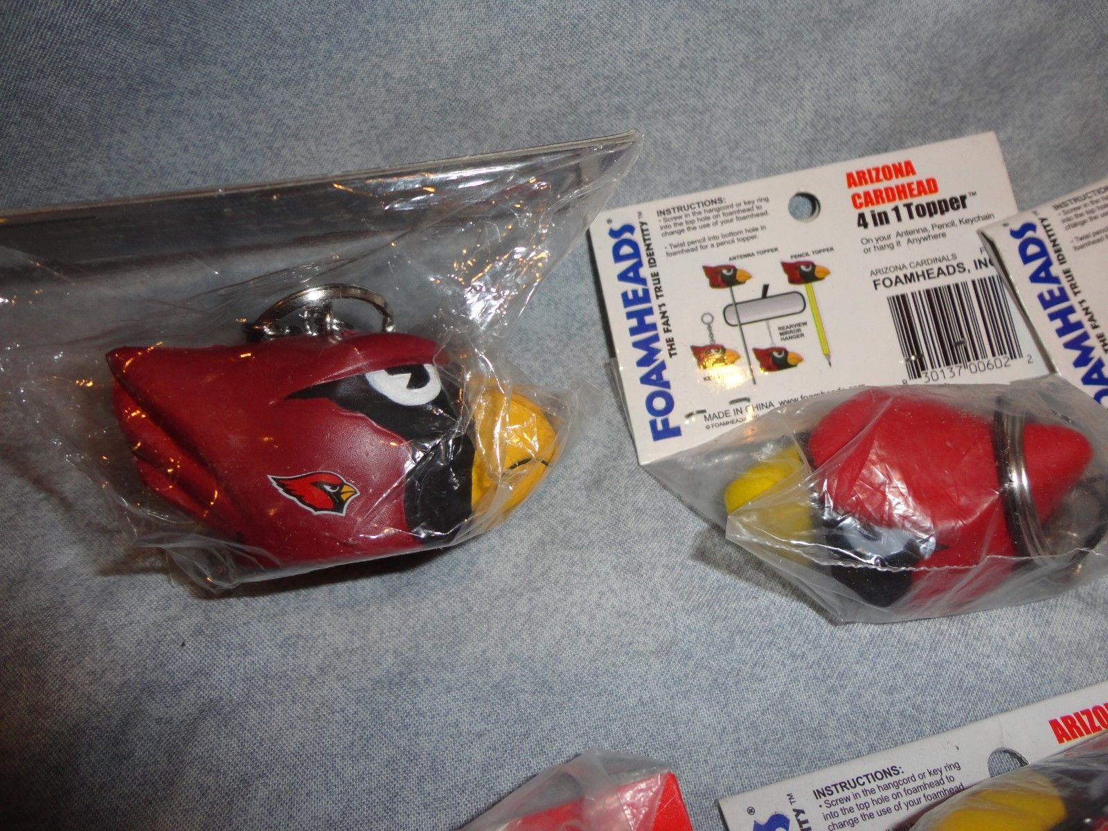 a317890fc ARIZONA CARDINALS CARDHEAD FOAMHEAD 4 IN 1 TOPPER SET 10 KEYCHAIN TOPPER ETC