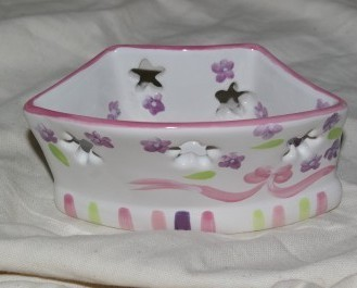PartyLite Lilac Meadows Tealight Holder Pair Party Lite