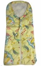 """Vintage Care Bears Baby Sleeping Bag Bunting Blanket Zipper Curity 29""""x12"""" - $21.77"""