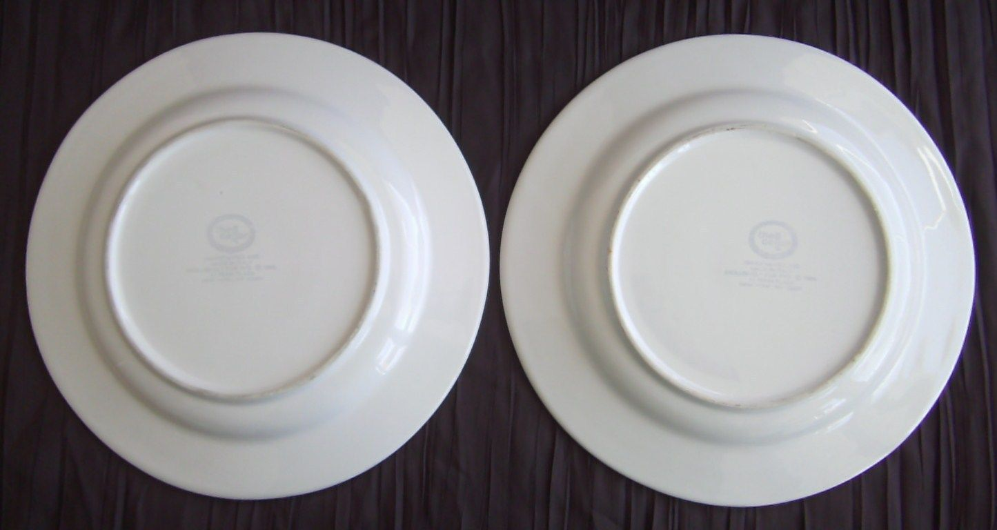... 2 The Cellar Macys Dinner Plates Hand Painted Italy Orange White 10 3/4  & 2 The Cellar Macys Dinner Plates Hand and similar items