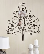 "29"" Sculpted MetalTree Design Wall Decor with Clips for Pictures NEW"