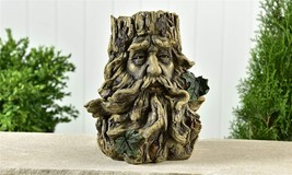 """11"""" Gnome Tree Face Design Planter - Rugged Textural Detailing Polyresin"""