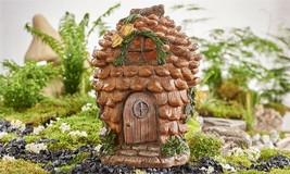 "11.8"" Gnome House Figurine Pine Cone & Cobblestone Look  Garden Decor Po... - $51.06"