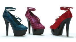 ELLIE Shoes Womens Platform Pleated Satin Ankle Strap Pumps 601-JUDITH B... - $77.22