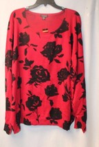NEW GEORGE WOMENS PLUS SIZE 4X 26W 28W RED ROSE... - $19.55