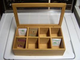 Tea Bag Organizer Storage Box Holder 8 Sections... - $49.99