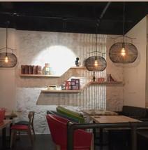 Simple Basket Pendant E27 Light Iron Ceiling Lamp Cafe Home Lighting Fixture  - $91.74+