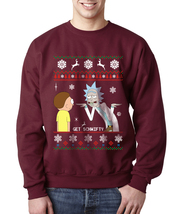 Get Schwifty | Rick and Morty | Crewneck Sweatshirt | MAROON - $30.00+