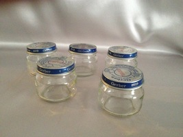 Baby Food Jars, Glass Jar Lot of 5, Storage Jars, Beechnut and Gerber Br... - $6.50