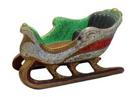 Vintage Mid Century Ceramic Christmas Sleigh Holiday Decor  - $25.00