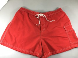 Catalina Mens XL Red Nylon Unlined Swim Trunks - $31.36