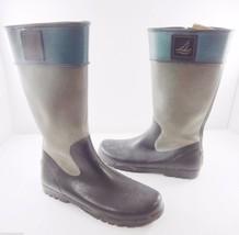 Sperry Top-Sider Womens 11 M Pelican Green Rubber Rain Boots Wellies Wat... - $54.88