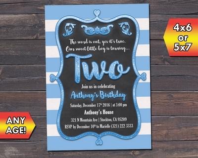 Cute Boy 2nd Birthday Party Invite And 50 Similar Items 01 Mala