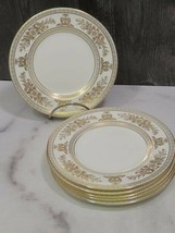 """Set of 6 Wedgwood gold columbia white 6"""" bread Side Plates - $35.64"""