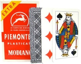 PIEMONTESI - Deck of Italian Regional Playing Cards - Plastic Coated Tri... - $13.99