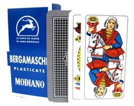 BERGAMASCHE - 1 Deck Italian Regional Playing Cards - Plastic Coated Tri... - $13.99