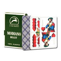 BELOT 100% PLASTIC Deck of Belot Italian Regional Playing Cards NEW - $12.99