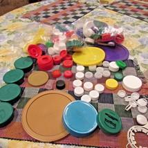 Plastic Caps Soda Water Bottle Arts Crafts School Projects Multi Colors  - $10.88