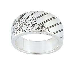Ring Cacharel with flowers and butterflies (CAR194), Sterling Silver 0,925 - £43.30 GBP