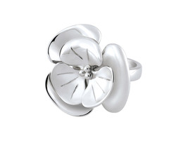 Ring Cacharel with big flower (CAR300), Sterling Silver 0,925 - £69.34 GBP