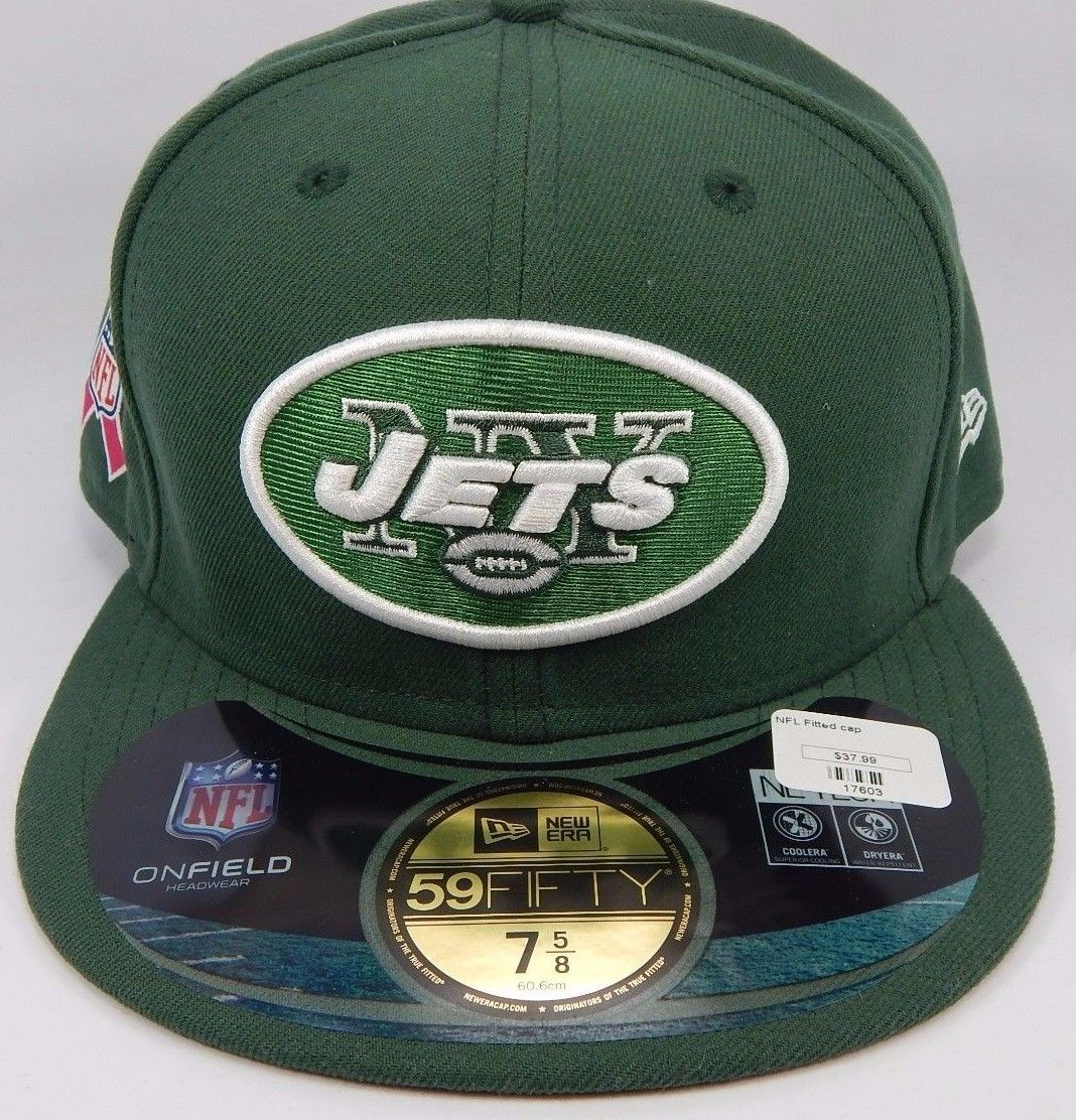 New York Jets New Era 59Fifty Size 7 1/2 Breast Cancer Awareness Fitted Cap Hat