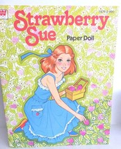Vintage Strawberry Sue Paper Doll, 1979 Whitman Book Uncut - $17.10