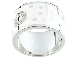 Ring Cacharel simple with ball effects (CLR085HZ), Sterling Silver 0,925 - £40.41 GBP