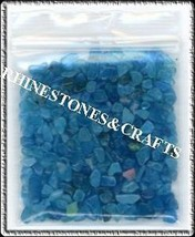 Unique .Smooth Shiny Crushed Rocks Turquoise Color - $3.41