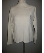 Karen Scott Acrylic & Wool Creme Sweater Size X... - $21.00
