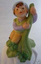 SHAMROCK 1980 s Fairy Pixie Flower PORCELAIN Bell AVON - $13.99